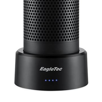 EagleTec P070 Mobile Akku Batterie Basis und Ladegerät für Amazon Alexa Echo,10080 mAh Intelligenter Akku, Echo Lautsprecher Standfuß mit USB-Anschluss zum Laden von weiteren USB Geräten -