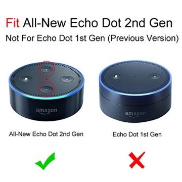 Fintie Amazon Echo Dot Hülle (nur für Echo Dot 2. Generation geeignet), Premium Kunstleder Schutzhülle Case Cover Tasche für Amazon All-New Echo Dot (2nd Generation), Schwarz -