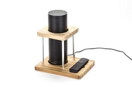 Lautsprecher Standfuß für Amazon Echo, UE Boom und andere Modelle aus echtem Bambus - Schützt und stabilisiert Alexa, von WASSERSTEIN -