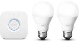 Philips Hue White LED Lampe 9,5 W, EEK A+, A60 E27 Starter Set inklusive Bridge, 2-er Set -