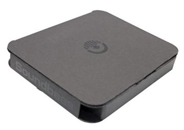 Soundbass - DELUXE DESIGN Amazon Echo Weißer ständer | Diskretes High-End Sockeldesign | Außergewöhnliche Verbesserungen in der Stabilität | Farblich abgestimmte Oberfläche | Perfekter Schutz für Alexa -