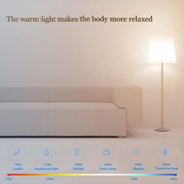 Ollivan®Original Xiaomi Smartl Nachttischlampe -LED Lampe Birne Lichtsteuerung - Leuchtdichte verstellen -mit WIFI und APP Ferndatenverarbeitung (bunts) -